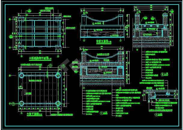 某大型旱喷广场景观规划设计CAD施工图纸-图3