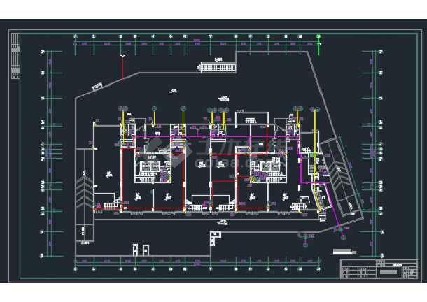成都某高层商住楼给排水CAD设计详图-图1