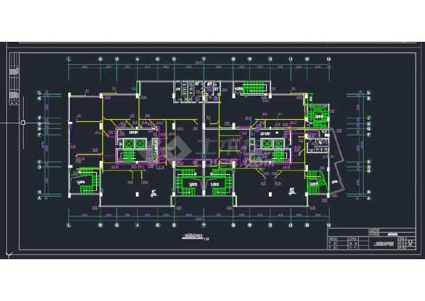 成都某高层商住楼给排水CAD设计详图-图2