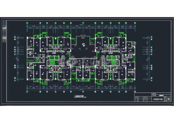 成都某高层商住楼给排水CAD设计详图-图3