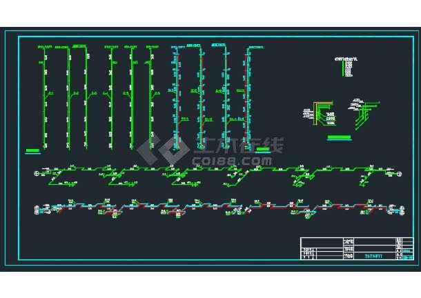 七层楼的给排水CAD平面设计图纸-图2