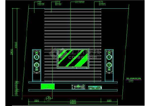 常用图块之客厅CAD室内设计施工图-图1