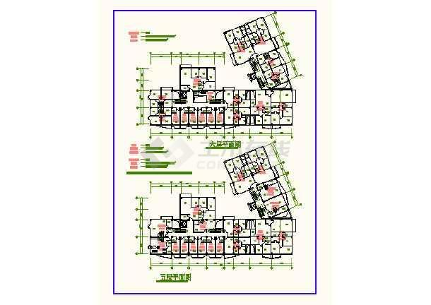 南京某地时代广场CAD平面建筑设计图-图1