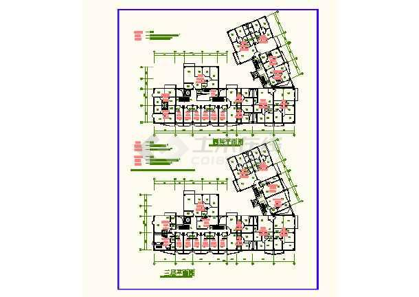 南京某地时代广场CAD平面建筑设计图-图2
