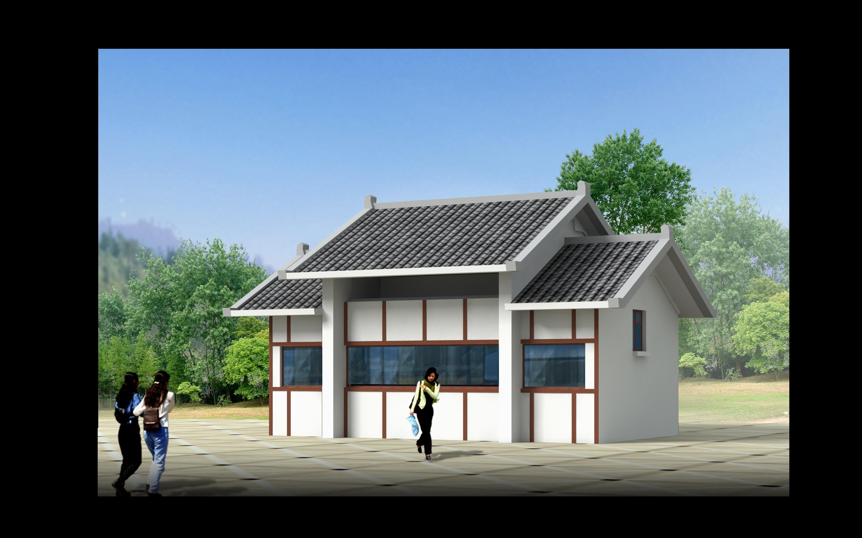 某地小型公园古建筑方案设计图(实景图)图片2