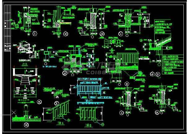 某一座特色别墅的CAD设计方案图纸-图1