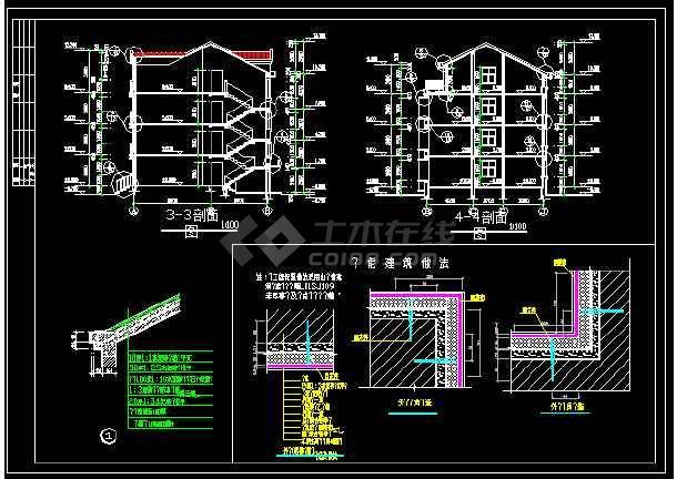 某一座特色别墅的CAD设计方案图纸-图3