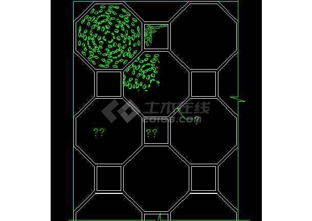 常用图块之地面CAD室内设计施工图纸-图1