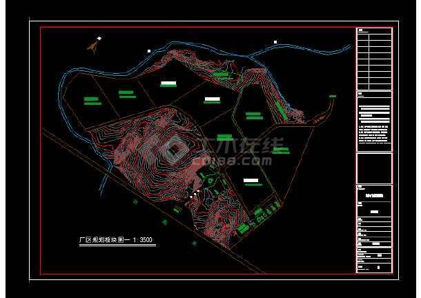 某地集团石材公司钢结构建筑结构CAD图纸-图2