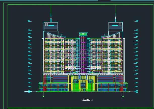 东城某假日广场建筑剖面cad设计图纸-图1