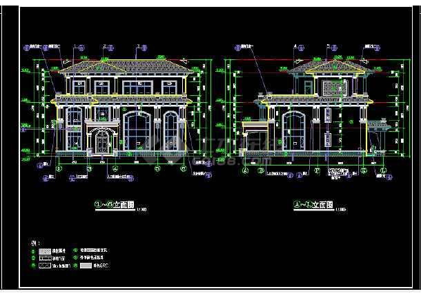 办公大楼建筑结构施工cad设计方案图纸-图2