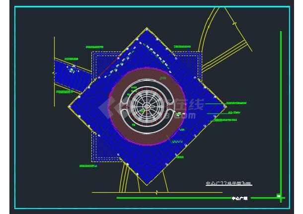 某城市雕塑休闲城市广场建筑工程设计详图-图1