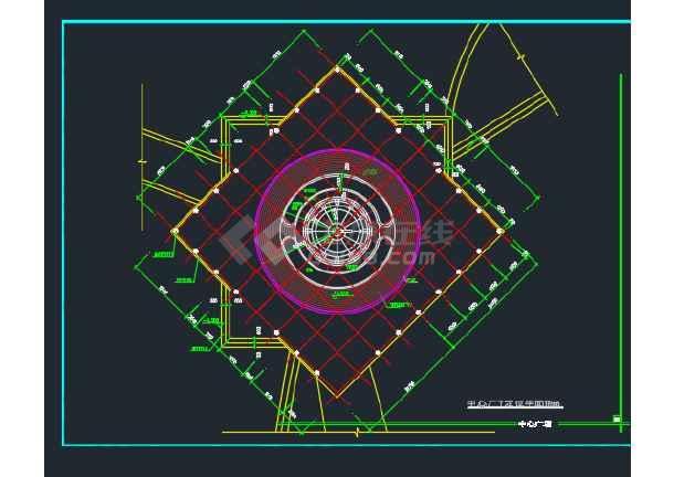 某城市雕塑休闲城市广场建筑工程设计详图-图3