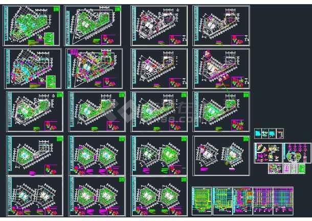 点击查看某地区二十五层大厦给排水设计全套CAD设计图纸第1张大图