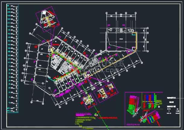 某地区二十五层大厦给排水设计全套CAD设计图纸-图3