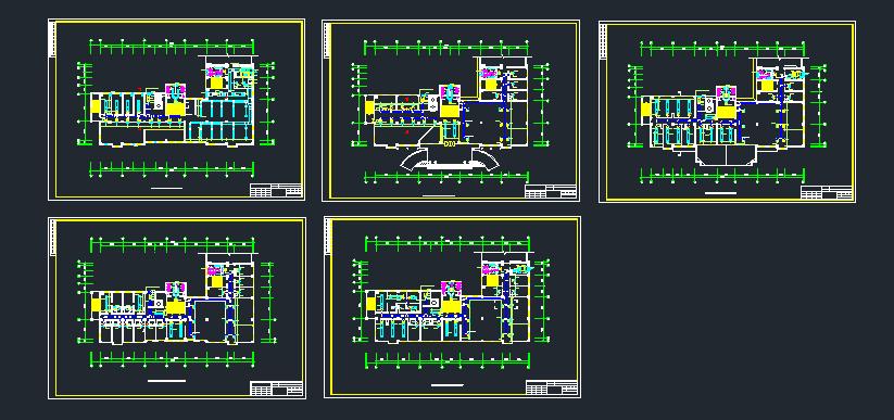 综合楼空调系统中的风系统设计施工图图片1