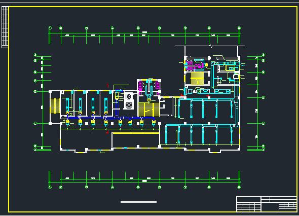 综合楼空调系统中的风系统设计施工图图片2