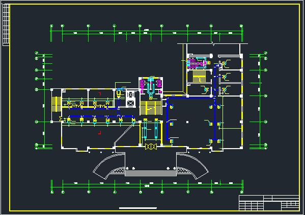 综合楼空调系统中的风系统设计施工图图片3