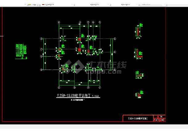 多层办公楼建筑施工CAD设计详图-图2
