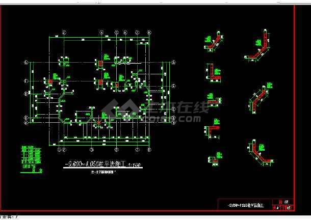 多层办公楼建筑施工CAD设计详图-图3