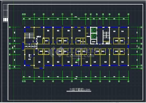某地区综合写字楼建筑设计CAD方案施工图-图3