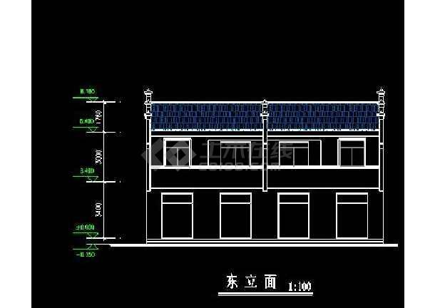 某地小型徽派居住建筑设计图(共5张)-图二