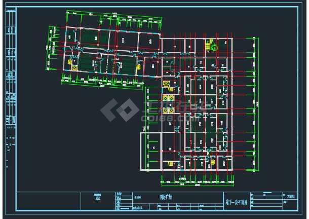 蚌埠某国际广场建筑工程平面CAD图-图3