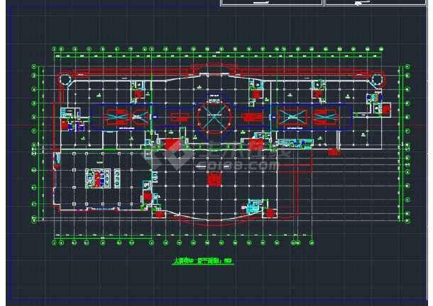 东北地区酒楼办公大厦建筑工程CAD施工图-图1