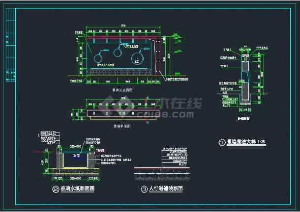 北京朝阳区广场全套环境CAD施工详图-图2