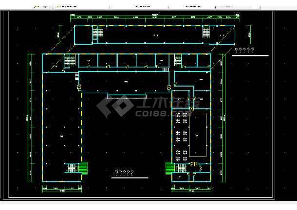 西单大厦设计方案全套CAD平面图-图1