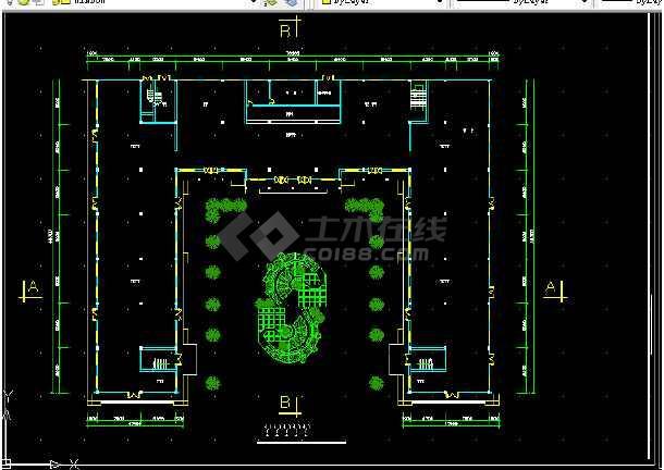 西单大厦设计方案全套CAD平面图-图2