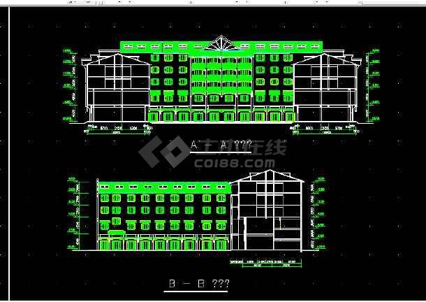西单大厦设计方案全套CAD平面图-图3