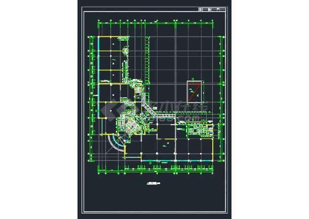 广州某处某国际大厦建筑方案CAD全套设计图-图2