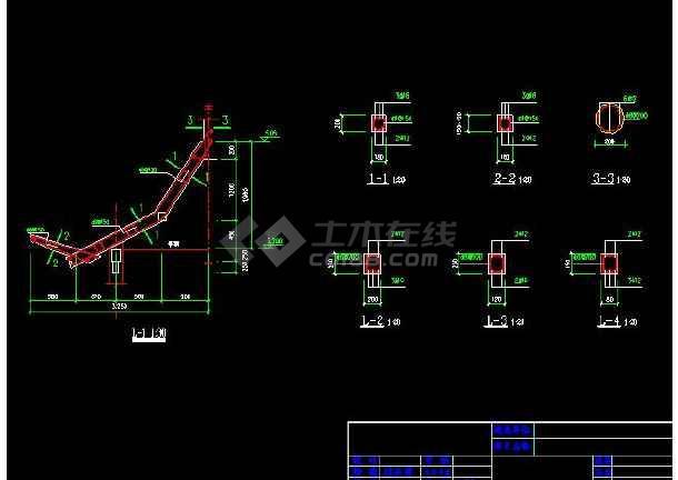 某地小型古建六角亭建筑施工图(共5张)-图1