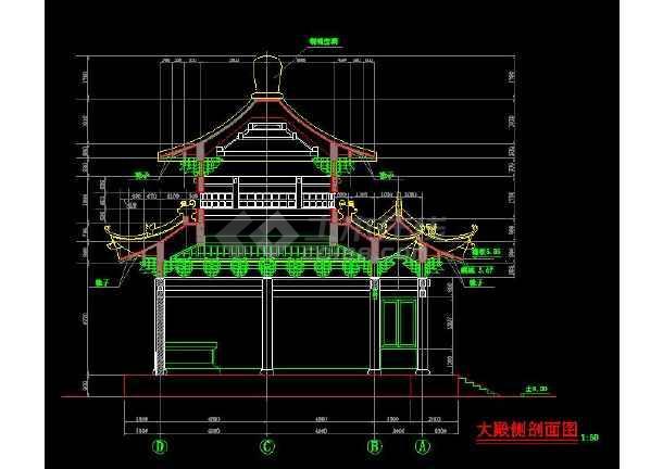 某地小型碑亭建筑施工图(共4张)-图2