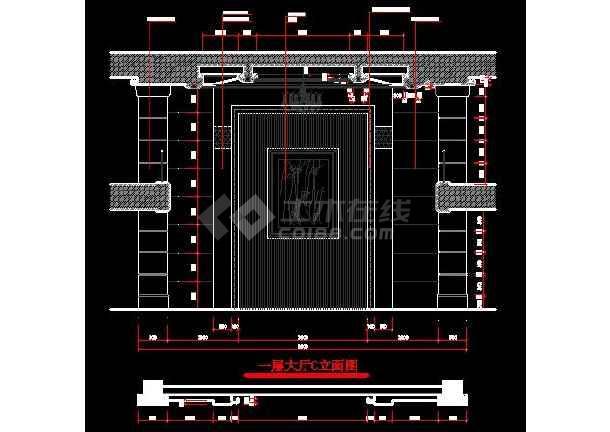 某地区浅塘别墅装修设计图纸(全套)-图1