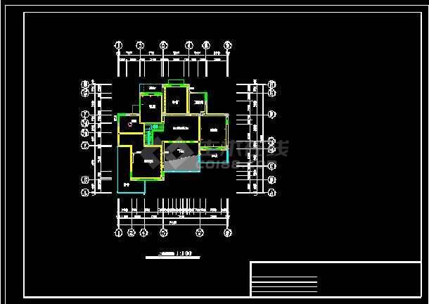 一套复式装修施工图纸(含效果图)-图1