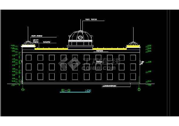 渡假村建筑设计与施工全套CAD图纸-图2
