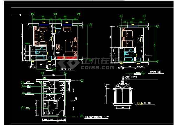 渡假村建筑设计与施工全套CAD图纸-图3