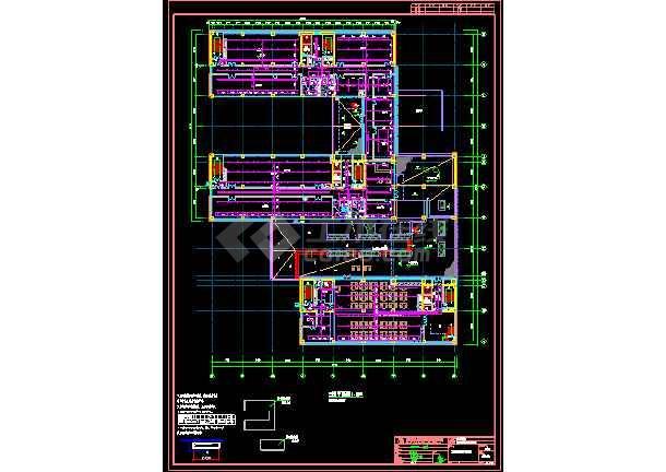 海洋王科技楼塔楼喷淋图纸-图2