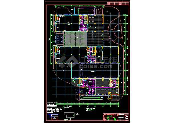 海洋王科技楼塔楼喷淋图纸-图3