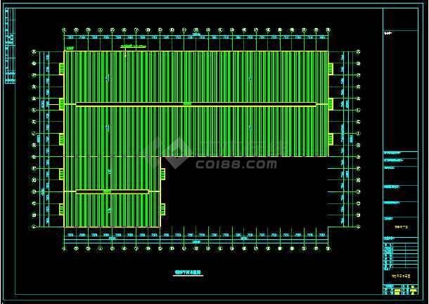 某公司一套石材钢结构厂房CAD图-图1