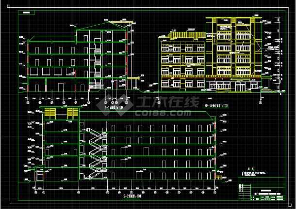 某地小型办公楼建筑设计图纸(共11张)-图1