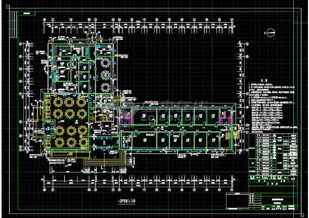 某地小型办公楼建筑设计图纸(共11张)-图2