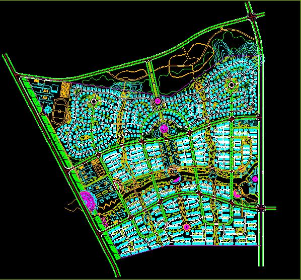 花园小区规划及景观绿化cad设计施工方案图图片1