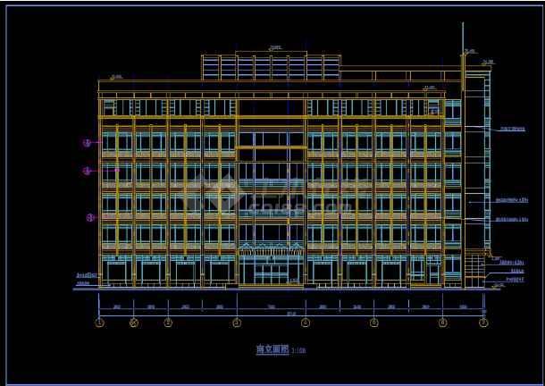比较齐全的一套多层办公楼建筑图纸-图2