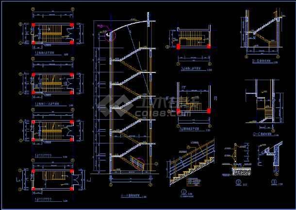 比较齐全的一套多层办公楼建筑图纸-图3