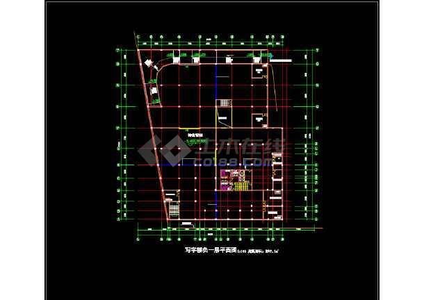 一套简单的高层写字楼建筑设计图纸-图1