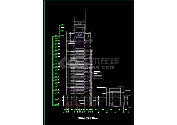 一套简单的高层写字楼建筑设计图纸-图2