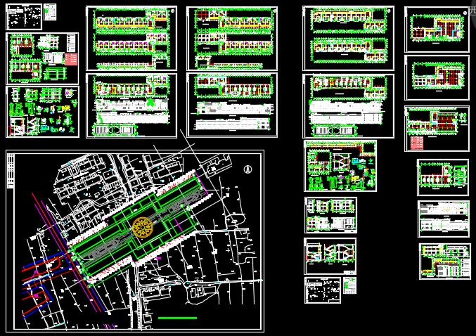 某商业步行街建筑施工图设计及透视图图片1